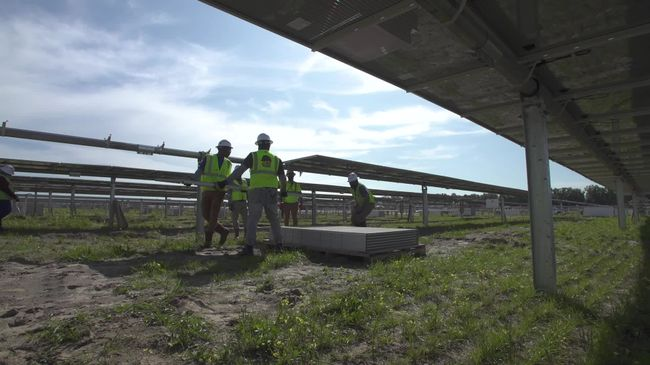 Duke Energy's Columbia Solar Power Plant in Fort White, Florida – installation of company's one-millionth solar panel in state (Feb. 24, 2020)