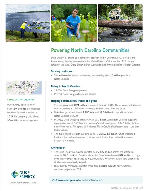 NC Economic Impact Fact Sheet