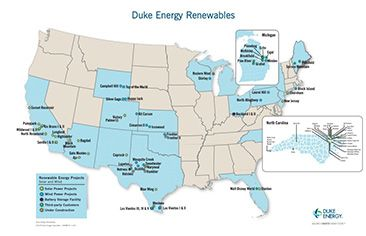 Duke Energy Renewables Project Map