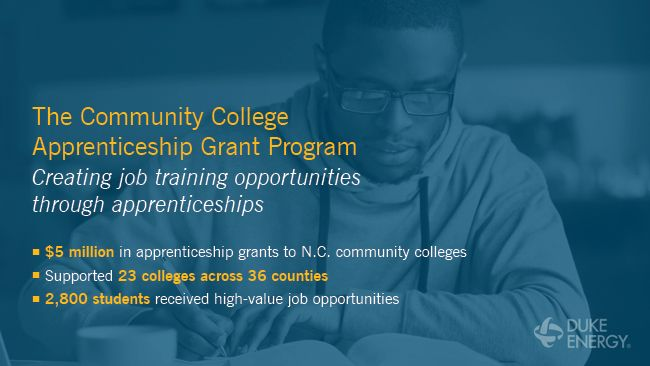 Duke Energy creates job training opportunities through $900,000 in grants to North Carolina community colleges