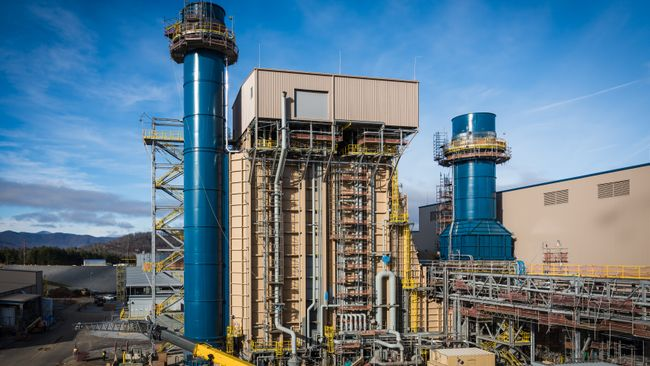 Asheville Combined Cycle Station Stack, Heat Recovery Steam Generator and Bypass Stack
