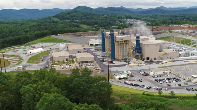 Asheville Combined Cycle Station 60-Second Drone Video