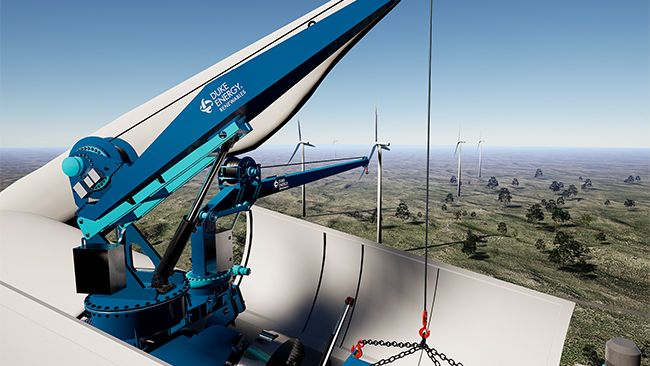 Duke Energy to use innovative technology to make wind turbine repair faster and cleaner