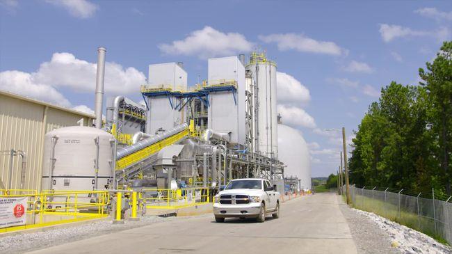 Buck coal ash reprocessing facility