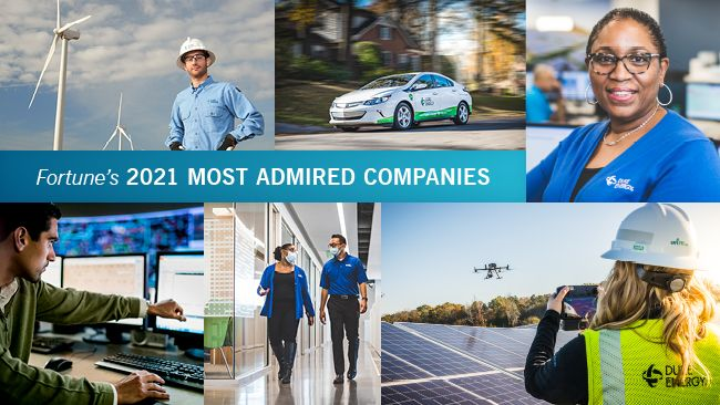 Duke Energy named one of Fortune's 'World's Most Admired Companies' for fourth consecutive year
