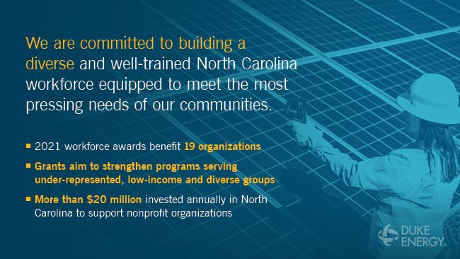 Duke Energy helps build North Carolina workforce with $615,000 in grants to community colleges, HBCUs and nonprofits