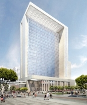 Architect's rendering of new San Diego Central Courthouse