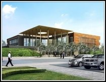 Rendering of South County Justice Center in Porterville