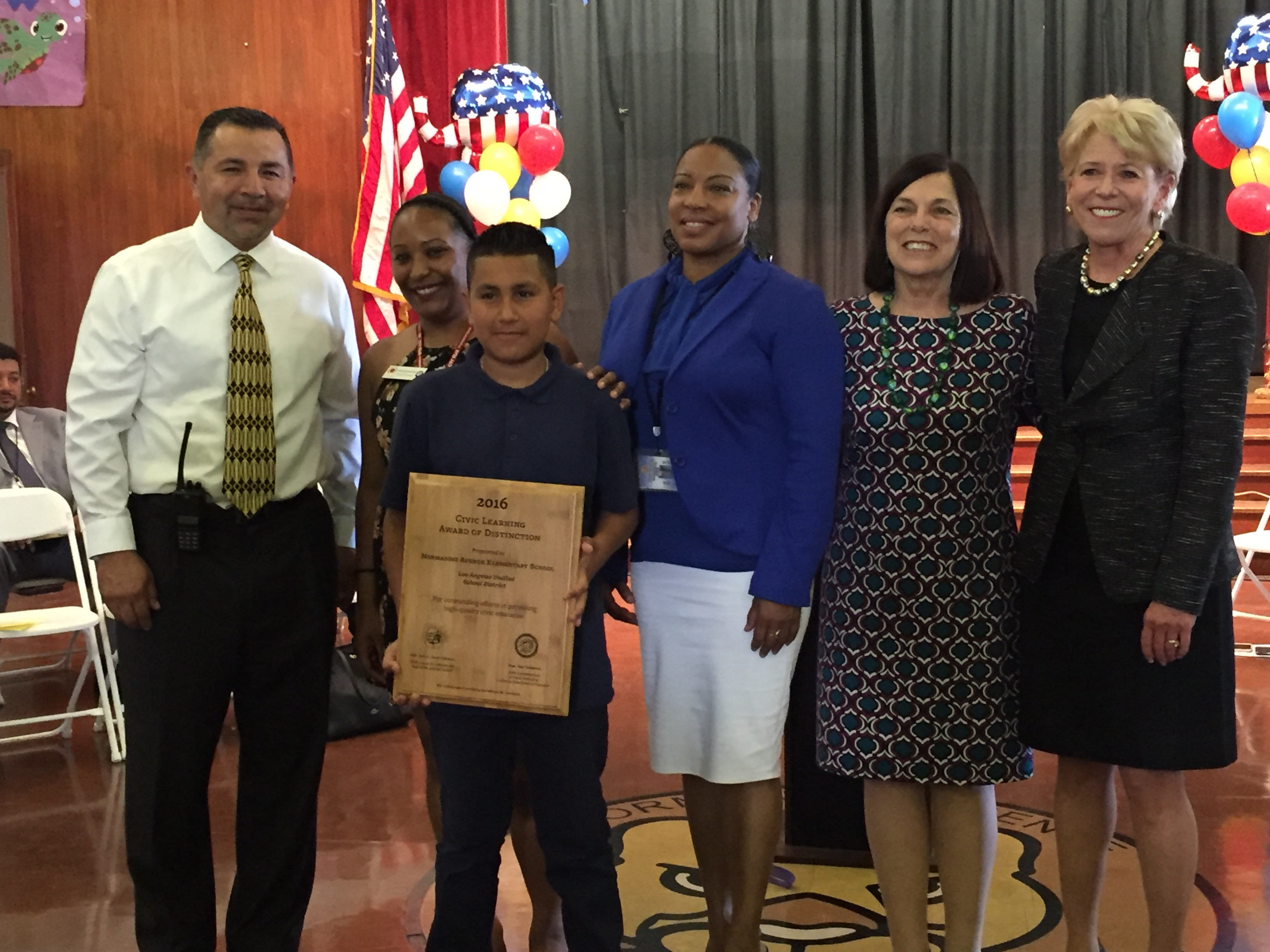 2016 Civic Learning Award of Distinction: Normandie Avenue Elementary School