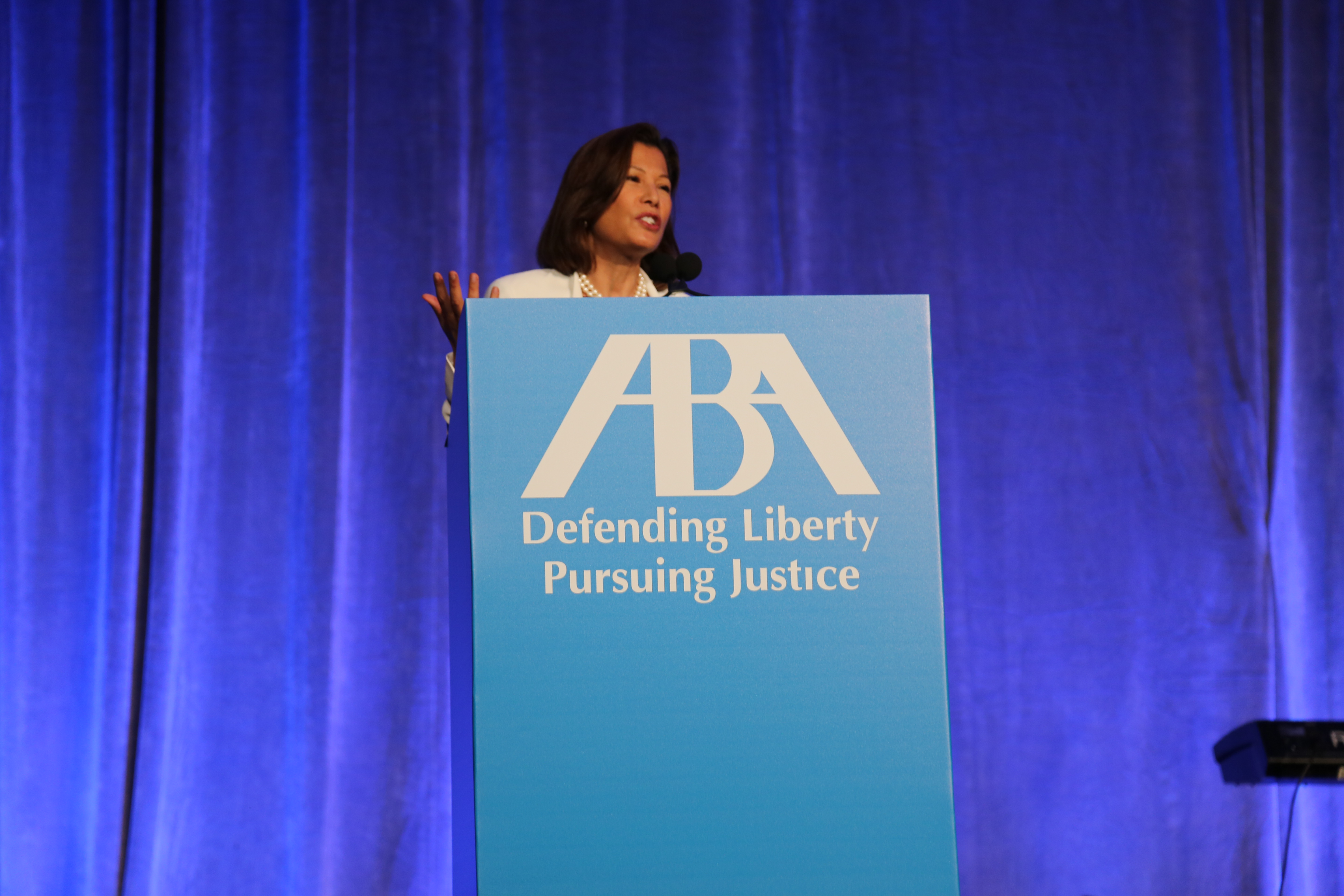 Chief Justice Cantil-Sakauye Gives Keynote Speech at ABA Annual Meeting 2016