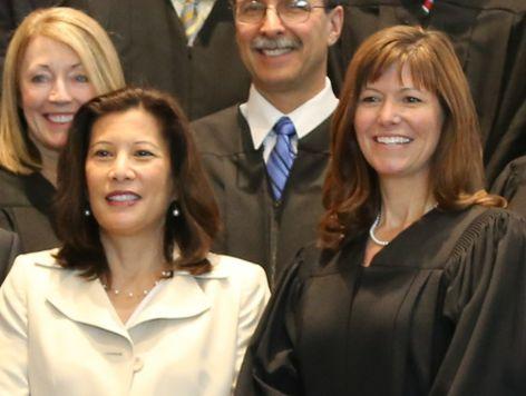 Chief Justice Cantil-Sakauye and Judge Kristen Lucena