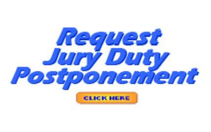Jury Duty Postponement Graphic