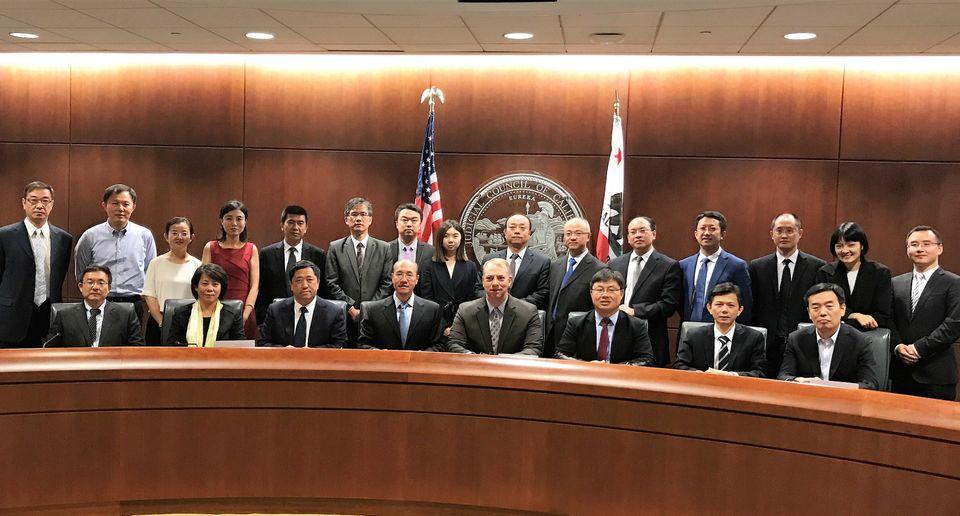 Chinese Representatives at Judicial Council