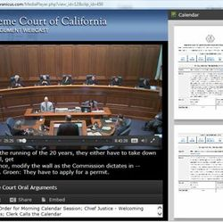 California Supreme Court Webcasts