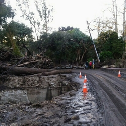 mudslide damages to roads