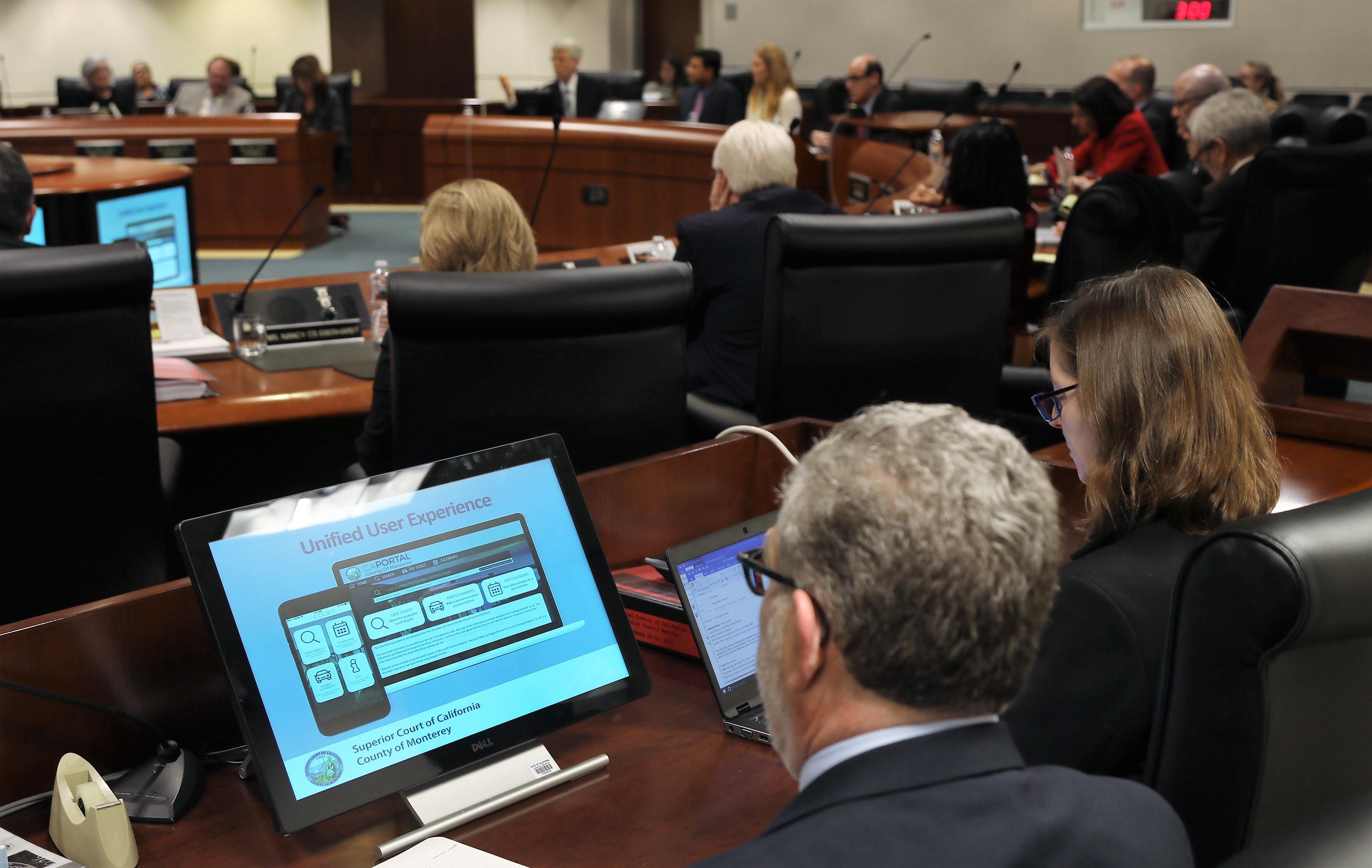 Monterey Court online app - Judicial Council Meeting - Nov 30, 2018