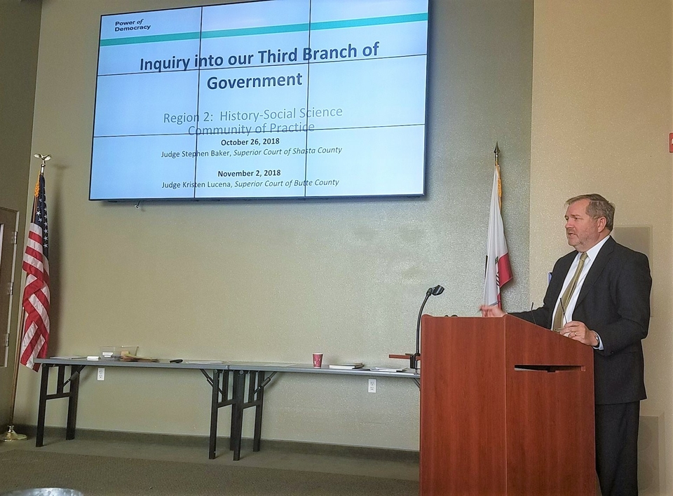 Judge Baker Presenting to Teachers