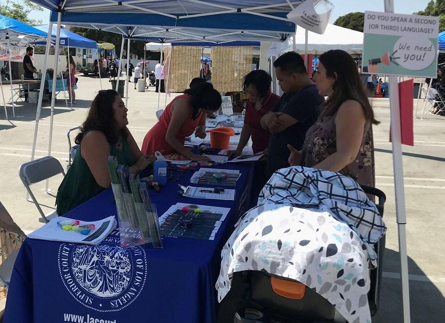 Los Angeles Court - Interpreter Outreach - Filipinotown Festival - Aug 2018