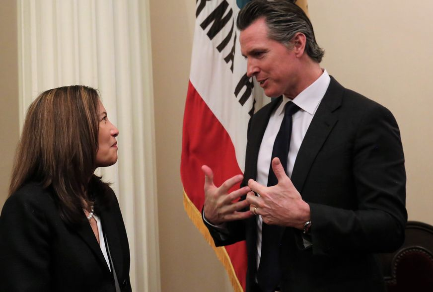 Chief Justice with Governor Newsom