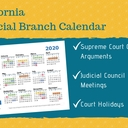 2020 California Courts Calendar 9-9-19