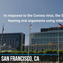 Video: Supreme Court Teleconferencing