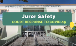 front steps of mendocino courthouse in ukiah thumbnail for juror safety video