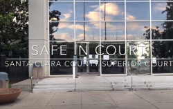 stairs to the santa clara courthouse with title to video safe in court