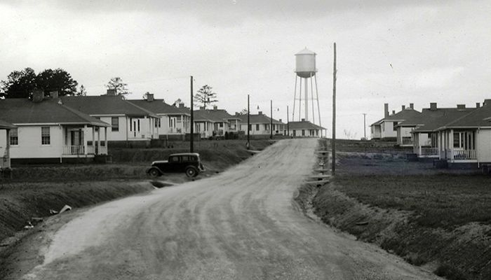 Houses at Cliffside Village in 1940.