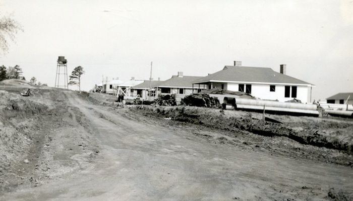 Houses at Cliffside Village in 1939.