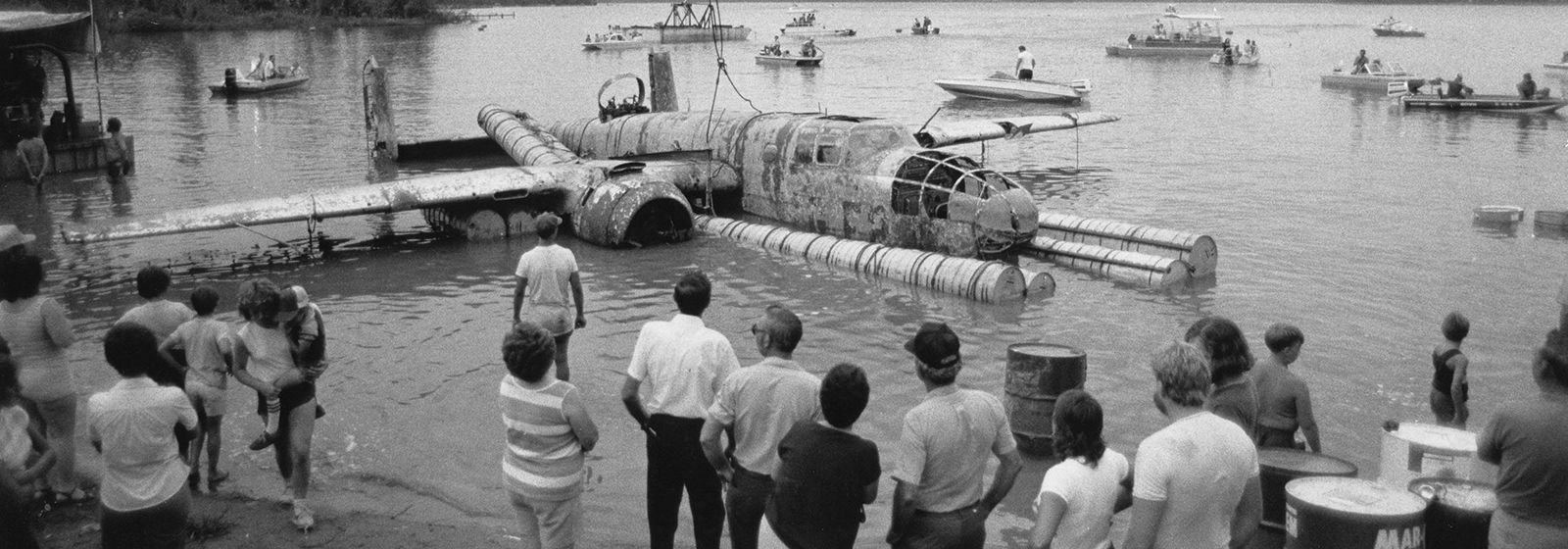 WWII B-25 raised from the depths in South Carolina