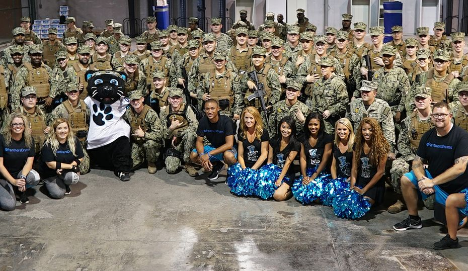 Panthers troupe goes overseas to support military