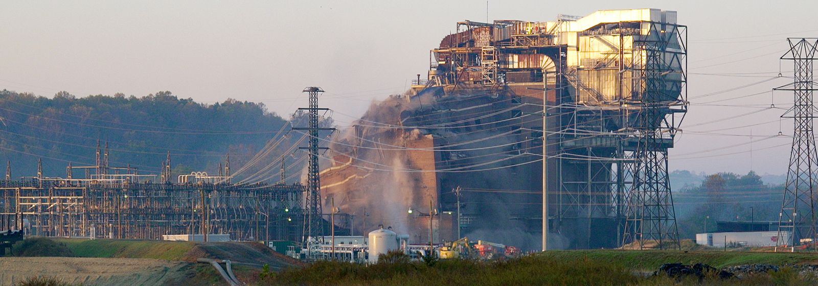 Video: Old Dan River power plant imploded