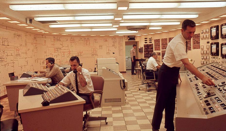 Men in control room c1960  0516