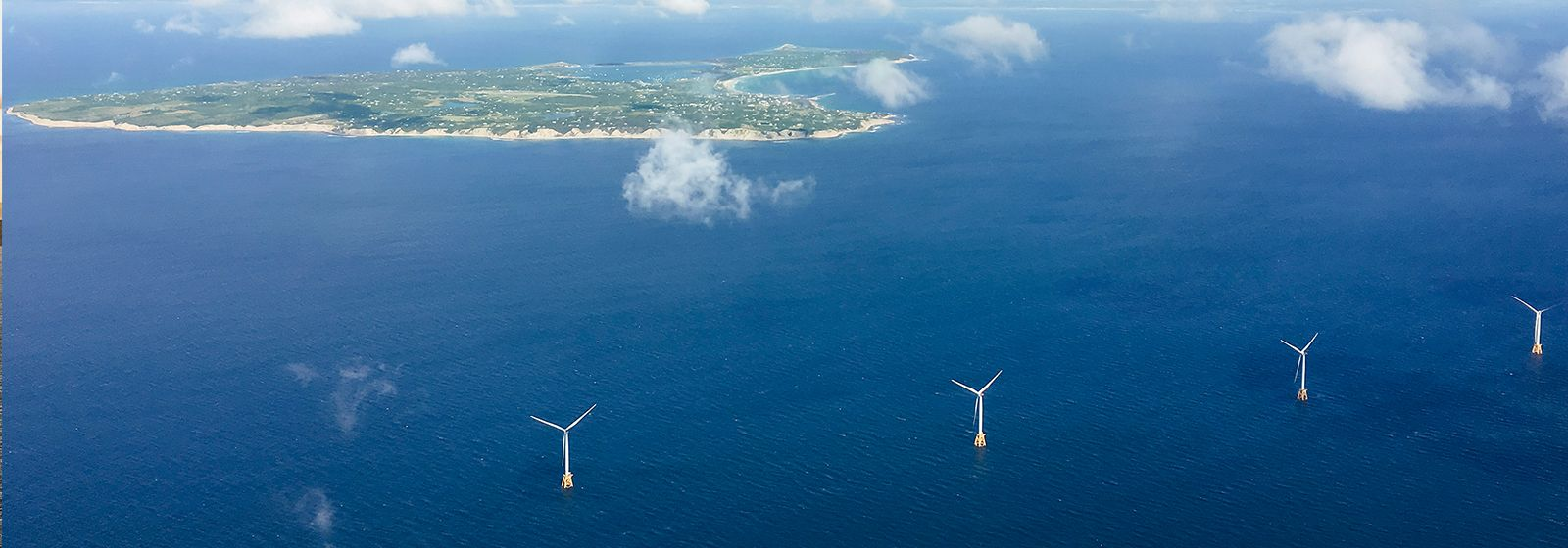 Block Island wind farm now spinning