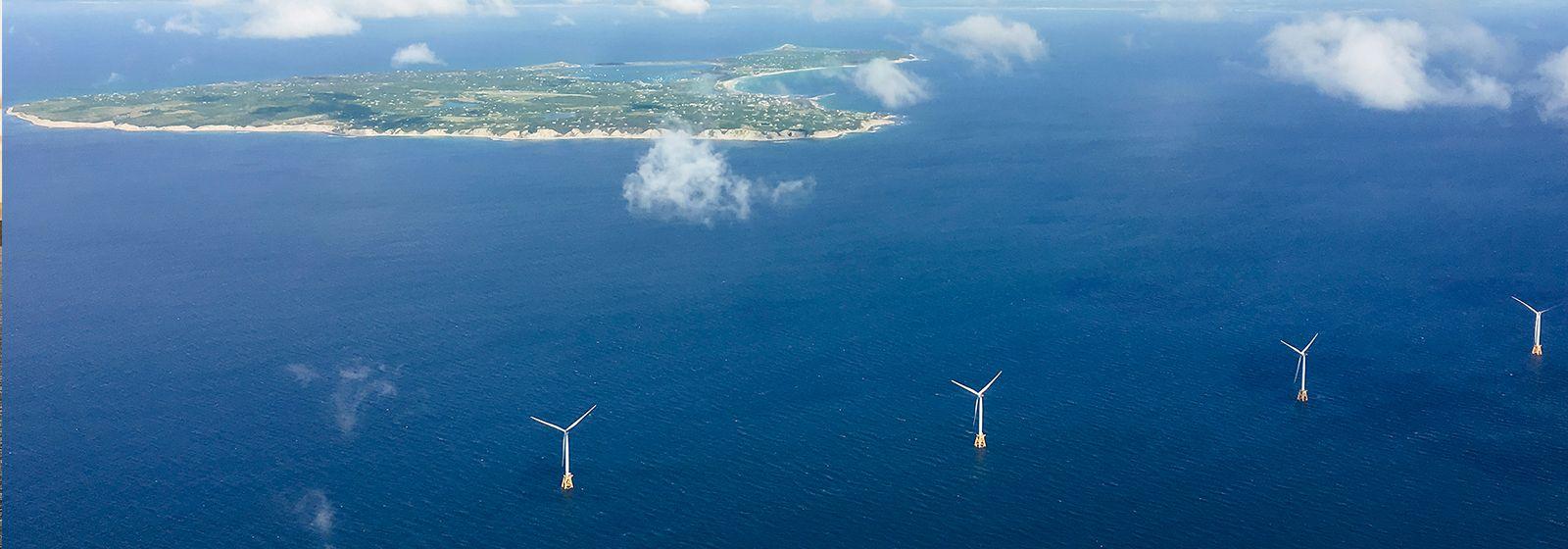Block Island wind farm now spinning