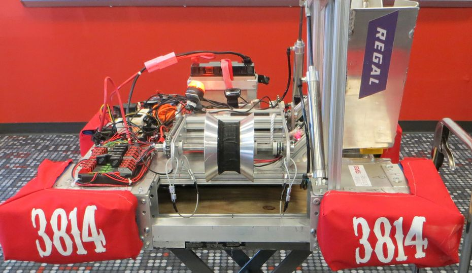 It whirs. It spins. The PiBotics robot can pull itself up