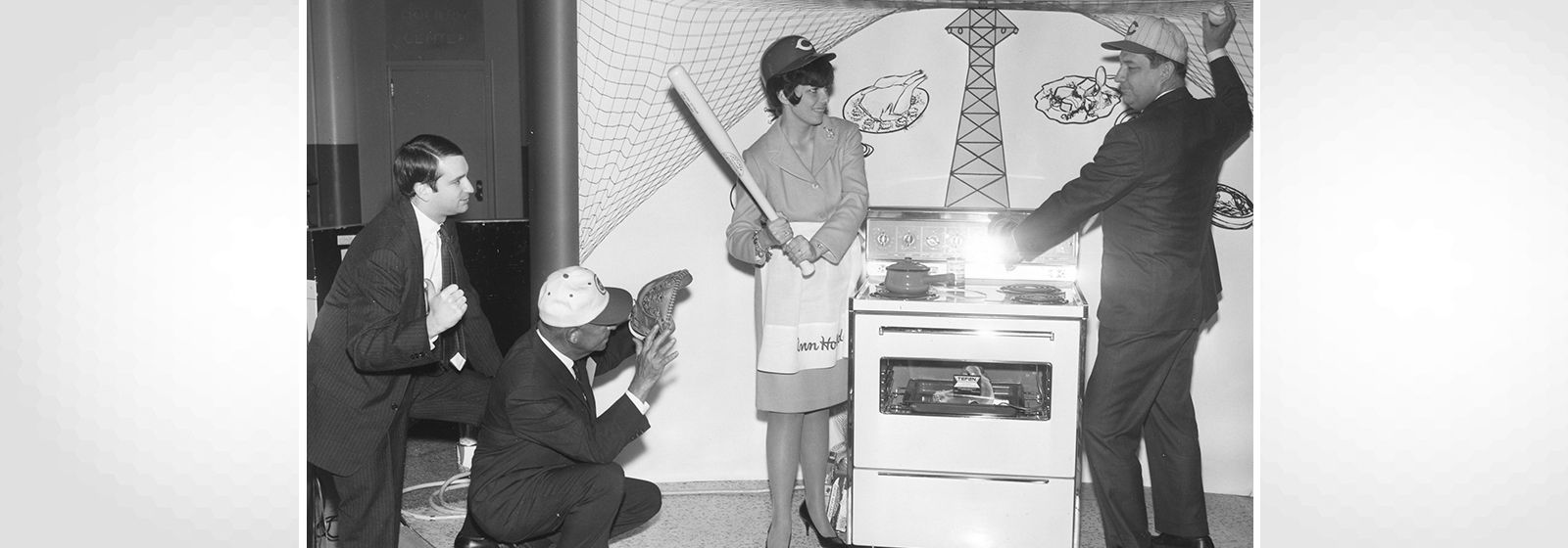 Retro photos: Why are they playing baseball indoors?