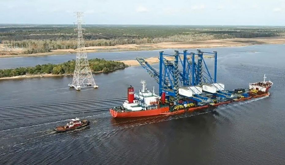 At NC port, massive cranes boost economic growth