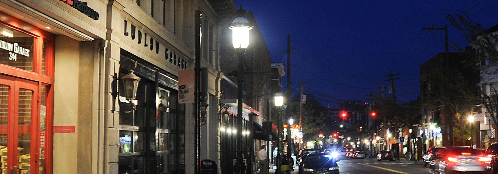Magic glows in the night in Cincinnati's Gaslight District