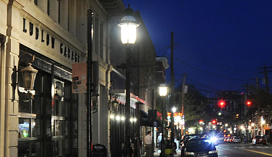 The glow in Cincinnati's Gaslight District