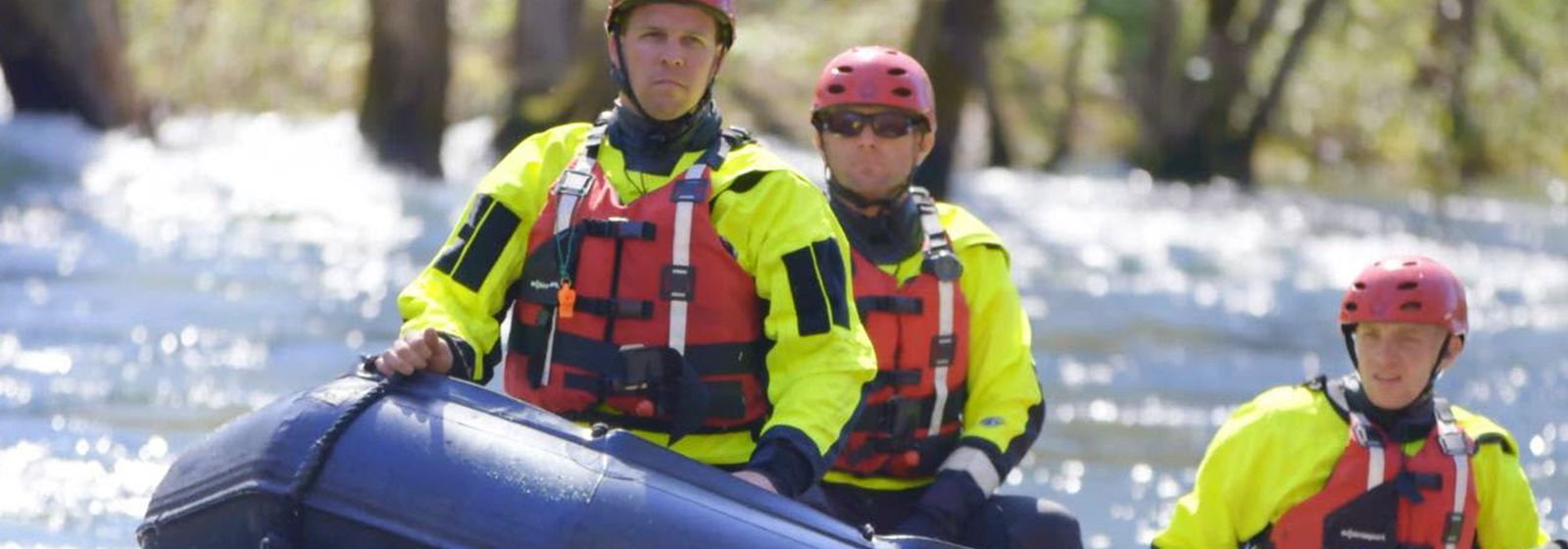 Crews train for rescues on the raging river