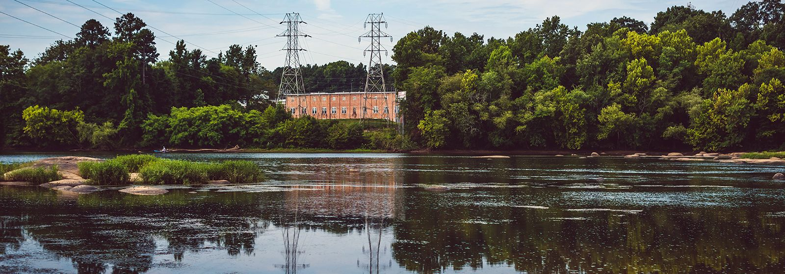 A  powerhouse on the Pee Dee River