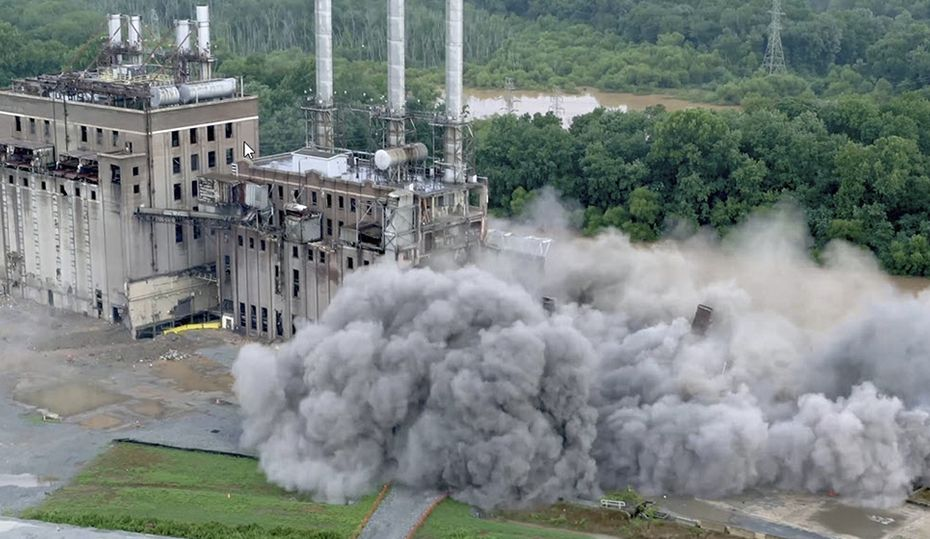 Implosion levels part of Buck power plant in Salisbury, NC