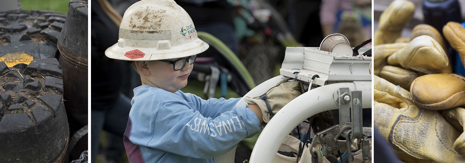 These kids' parents have cool jobs – energy company lineworkers