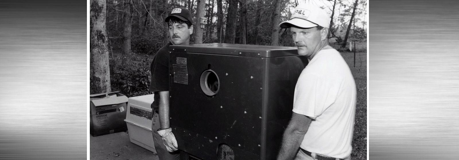 Retro photos: Hurricane Hugo crew