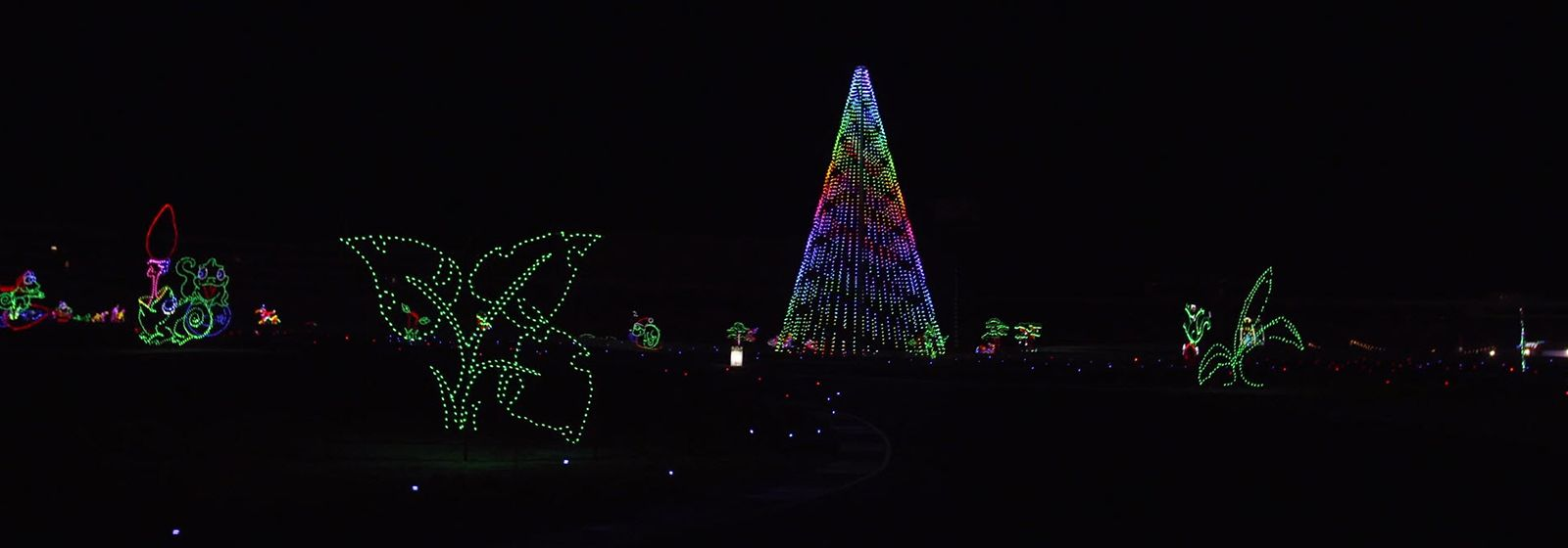 Millions of LEDs dazzle at Charlotte Motor Speedway for the holidays
