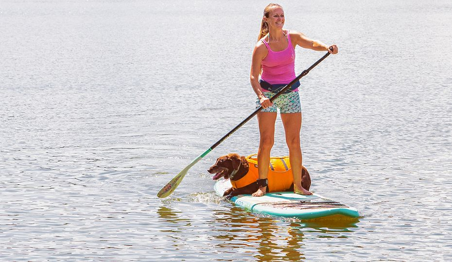 Heidi Schmidt found happiness on a paddleboard