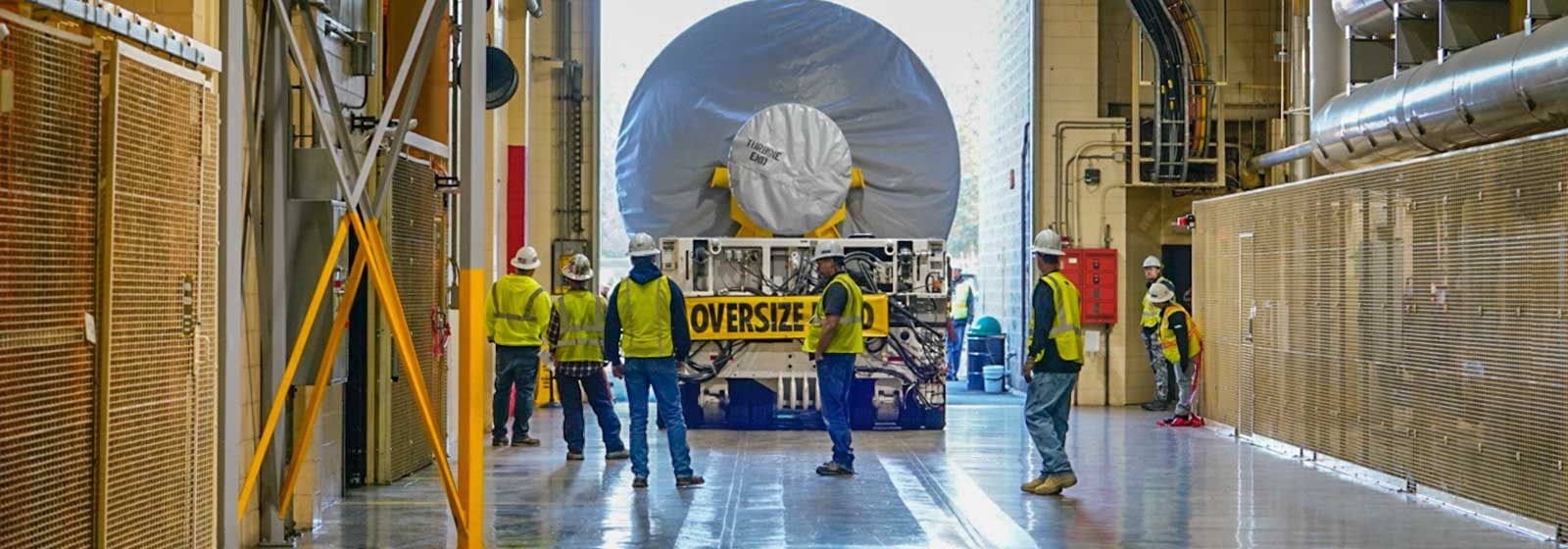 Giant turbines make the move to Catawba Nuclear Station