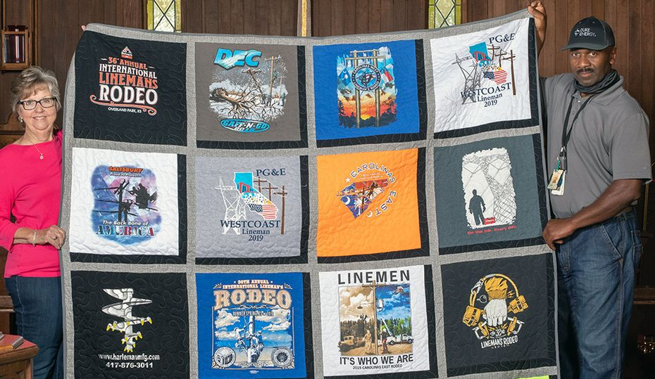 His quilt celebrates lineworkers' camaraderie and competition