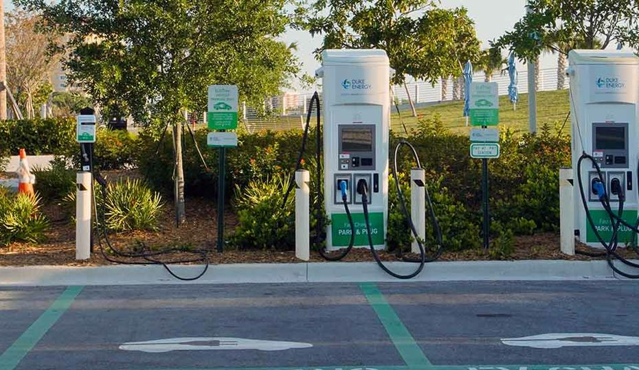 Electric vehicle charging stations are growing nationwide